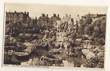 Vintage Postcard - Lily Pond & Fountain Rock Gardens, Southsea - Unposted 2099