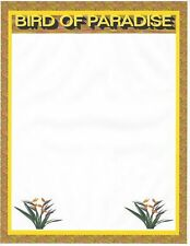 Bird Of Paradise Stationery Printer Paper 26 Sheets
