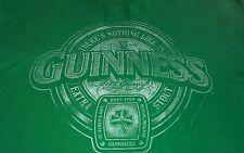 Guinness stout official green short sleeve tshirt shamrock nwot large stress