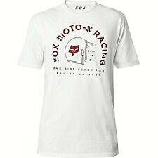 Fox Moto X Racing Fifty Men's Raised On Fumes Premium T-Shirt XL White NWT