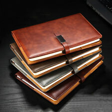 A5 PU Leather Vintage Journal Notebook Lined Paper Diary Planner Buckle Style