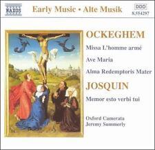 Ockeghem: Missa L'homme armé; Ave Maria; Alma Redemptoris Mater; Josquin: Memor