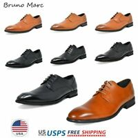 Bruno Marc Mens Oxford Shoes Genuine Leather Lace up Casual Dress Shoes 6.5-13