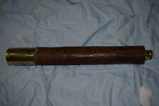 VINTAGE BRASS / LEATHER WRAPPED SHIPS TELESCOPE Spencer & Company