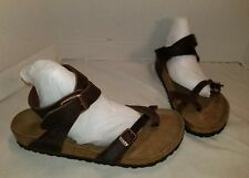 NEW BIRKENSTOCK YARA OILED HABANA BROWN LEATHER SANDALS WOMEN'S 10 MEN'S 8