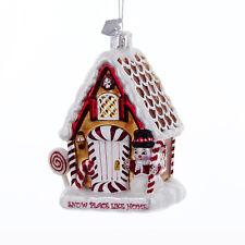 """Kurt Adler Christmas Noble Gems Gingerbread House Ornament 4"""" NB1084 New 2016"""