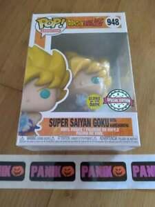 Funko Pop Dragon Ball Z Super Saiyan Goku w/ Kamehameha 948 Glow In The Dark SE