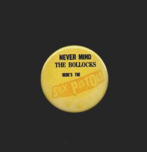 SEX PISTOLS ~ Orig UK 1977 38mms pin badge. Punk. G+.