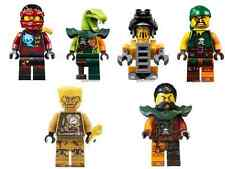 6 LEGO NINJAGO Echo zane , Nya ,Clancee minifigures & more new set 70594 lot