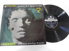 SYMPHONIE DE BEETHOVEN N° 5 EGMONT OUVERTURE LP VINYLE VG/VG ESPAGNE ED 1958