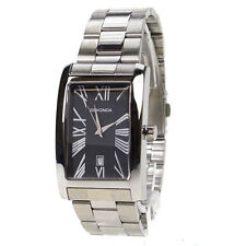 watches parts accessories sekonda mens black dial rectangular stainless steel gents watch 3634 brand new