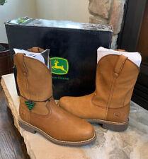 John Deere Steel Toe Mens Boots Size 8.5 W