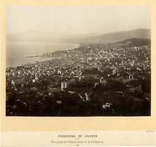 France, Cannes Panorama Photo Vintage Print, Vue prise depuis l'Observato