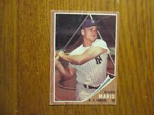 ROGER  MARIS (Why not in the Hall of Fame?!)Yankees 1962 Topps  Card (CARD #1)