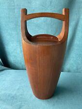 "More details for vintage mid century teak ""congo"" ice bucket by jens harald quistgaard for dansk"