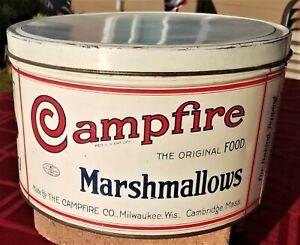 Vintage Campfire Marshmallow 5 lb. Tin