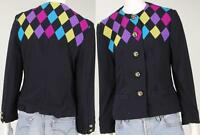 Louis Feraud Argyle Made In Germany Wool Suit Blazer Coat Jacket