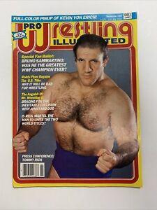 Pro Wrestling Illustrated Magazine September 1983 Bruno Sammartino Cover