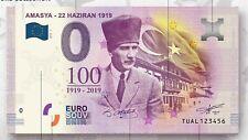 0 Euro Souvenir Turkiye - AMASYA 1919 - 0 euro - SPECIAL EDITION