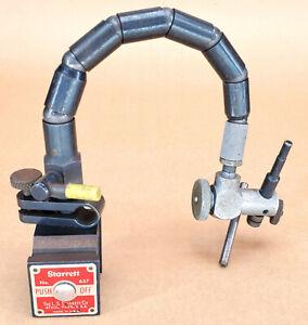 Starrett No. 657 magnetic base with Flex-O-Post fine adjustment