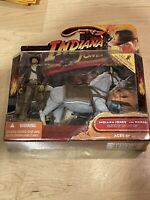🔥Indiana Jones Raiders of the Lost Ark Action Figure Indy with Horse 2008 NIP🔥
