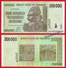 ZIMBABWE 500000 Dollars dolares 2008 Pick 76  SC / UNC