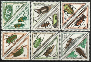 Central African Republic Stamp - Beetles Stamp - NH