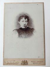Large Victorian Carte De Visite CDV Cabinet Photo  - A & J Taylor - Newport