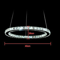 LED Crystal Oval Pendant Light Chandelier Lamp Ceiling Fixture DIY Home Decor