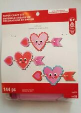 Creatology Valentine's day paper craft kit Arrows w/smiling hearts w/eyes 144pc