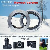 TECHART TZE-01 Auto-Focus For Sony FE Mount Lens Adapter To nikon Z6 Z7 Mount