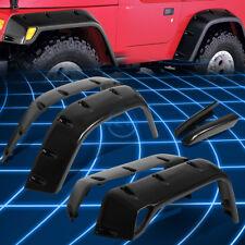 Black Matte Pocket-Rivet Style Fender Wheel Flare for 1997-2006 Jeep Wrangler