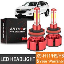 H11/H9/H8 120W 4 Sides LED Headlight Bulb Conversion Kit Hi Low Beam 6000K Light