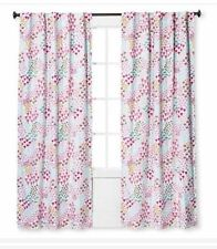 One Pillowfort Florals Pink Fetching Twill Light Blocking Curtain Panel 84� Pink