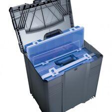 TANOS Sortimentbox-systainer® T-loc V   anthrazit mit 4 Sortimentboxen  blau