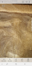 """1M NUDE BEIGE GOLD PEARLS BEADED  LACE BRIDAL TULLE FABRIC 58"""" WIDE"""