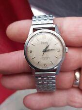 Vintage Nivada Discus Manual Wind Steel Wristwatch(working Order)
