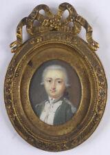 """L.-M. Sicardi-Attrib """"Pierre de Serre, Cpt. Noailles Dragoons"""" miniature 1779/85"""