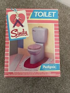 Brand New Vintage Sindy Toilet In Original Box And Packaging