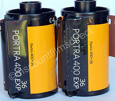 2 x Kodak  Portra 400 35mm 36 exposure Cheap Colour Print Film - 1st CLASS POST