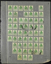 GB, KGV 1929 SG#434, 1/2d Green UPU x 55 Used Stamps Cat £123 #V10849