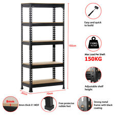 1.5 x 0.7M Boltless Warehouse Racking Rack Storage Garage Shelves Shelving Shelf