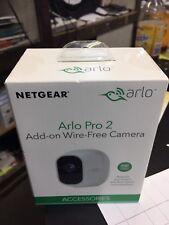 New Netgear Arlo Pro 2 Add-on Indoor/Outdoor WeatherProof Wire Free 1080p Camera
