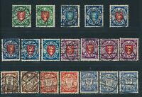 "DANZIG 1924-27, ex Mi. 193-216 gestempelt, ""Wappen"" überkomplett gepr. BPP!!"