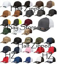 100 Flexfit Trucker Cap Fitted Mesh Baseball Hats 6511 One Size Hat WHOLESALE
