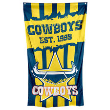 North Queensland Cowboys NRL Cape and Wall Flag **NRL OFFICIAL MERCHANDISE**