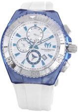 Technomarin Men's Cruise White Silicone Strap Silver Dial Quartz Watch TM-115055