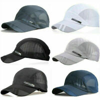 Men's Outdoor Quick-drying Visor Caps Sport Summer Running Baseball Mesh Hat NEW