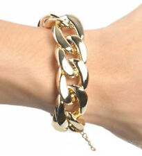 20mm wide High Quality Plastic Never Fades curb chain Bracelet Yellow Gold
