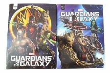Marvel Guardians Of The Galaxy Hardcover 96 Sheet Notebook 2 Pc Set W/Stickers